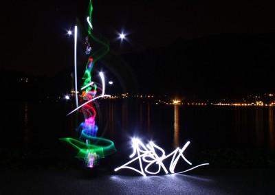 Light painting by Zert Photo by Andrea 2014 Lac du bourget (73)