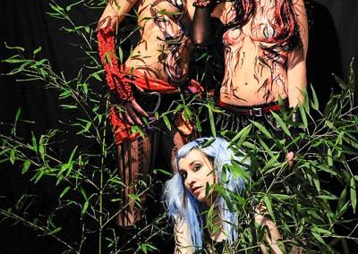 Body painting Graffiti Modèle Claire Bmode - Sophie H - Wero Photo Rémi G 2012 à Cannes (06)