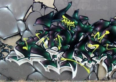 Graffiti Street art Zert B2C - Motus by Fans - Skule ODV 2011 Cagnes sur mer (06)
