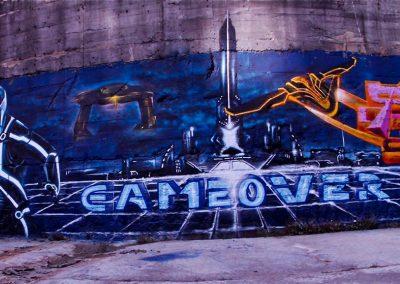 Graffiti Street art TRON Zert - High - Amok - Teddy Collectif de la Maise 2015 Chambéry (73)