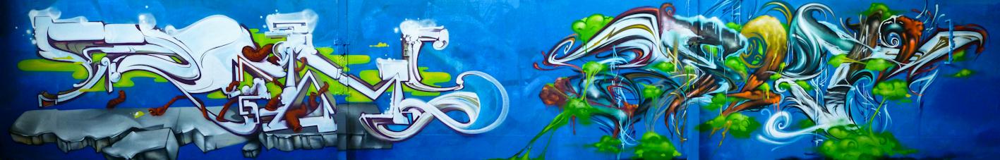 Graffiti Street art Rems GF - Zert 711 Grasse (06)