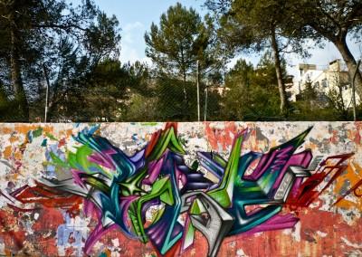 Graffiti Street art Zert 3D en 2010 à Sophia Antipolis (06)