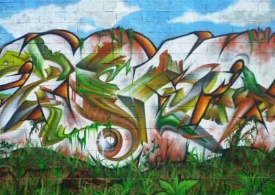 Graffiti Street art Apocalypse 2012 Zert en 2011 à Vallauris (06)