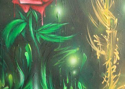 Graffiti Exposition Calligraphie Détail Canvas 2016 Zert 50x100