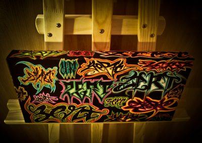 Graffiti Exposition Multi lettrages Zert en 2014 30x20