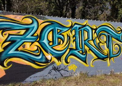 Graffiti Street art Zert en 2021 au Tignet (83)