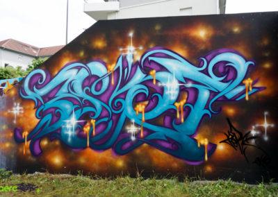 Graffiti Street art Zert en 2019 à Belley (01)