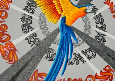 Graffiti Exposition Calligraphie Canvas 2019 Zert 100x100