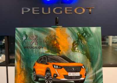 Performance live pour l'inauguration de la nouvelle Peugeot 2008 dans le concessionnaire Peugeot à Cluses en Haute-Savoie 2020