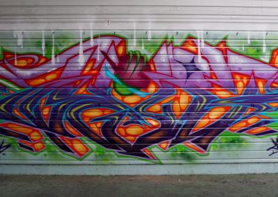 Graffiti Street art Zert en 2020 à Scionzier (74)