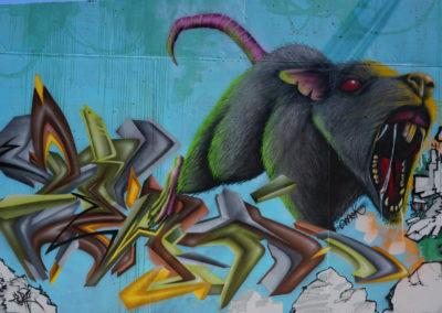 Graffiti Street art Zert en 2020 à Chambéry (73)