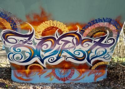 Graffiti Street art Zert en 2020 à Genève (Suisse)