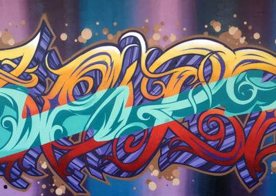 Graffiti Street art Zert en 2020 à Golfe Juan (06)