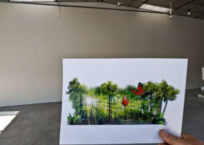 Visuel trompe l'œil du projet ( décoration pompes funèbres Autem 2018 à Nangy Haute-Savoie )