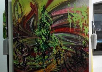 Toiles de Zert à la ferme de Bressieux en Savoie 73 Le collectif de la Maise Graffiti Street art en Savoie 73 e collectif de la Maise Graffiti Street art