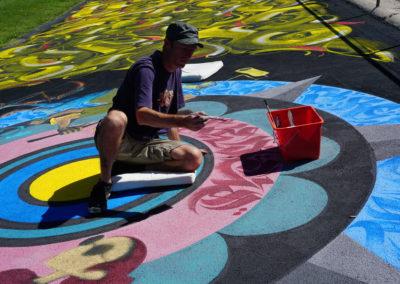 Urban art 2020 Vélodrome de Genève Zert en action