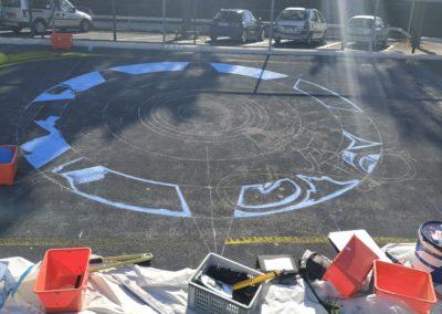 Urban art 2020 Vélodrome de Genève Esquisse du projet Zert et Graff Matt